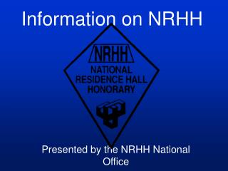 Information on NRHH