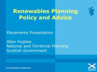 Renewables Planning Policy and Advice