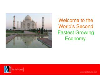 Welcome to the World's Second Fastest Growing Economy.