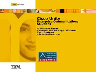 Cisco Vision for  Unified Communications