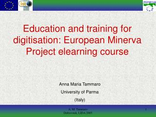 Education and training for digitisation: European Minerva Project elearning course