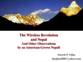 The Wireless Revolution  and Nepal And Other Observations  by an American-Grown Nepali