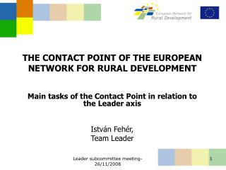 THE CONTACT POINT OF THE EUROPEAN NETWORK FOR RURAL DEVELOPMENT