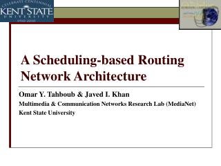 A Scheduling-based Routing Network Architecture