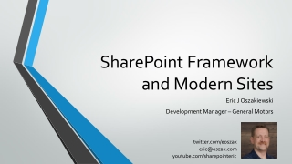SharePoint Framework and Modern Sites