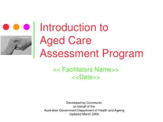 Introduction to  Aged Care Assessment Program