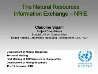 The Natural Resources Information Exchange – NRIE