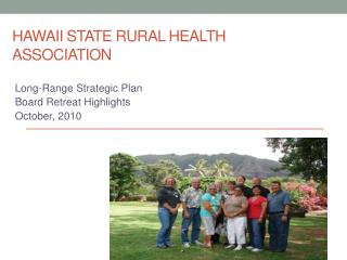 Hawaii State rural health association