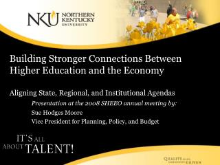 Building Stronger Connections Between Higher Education and the Economy