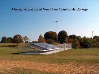 Alternative Energy at New River Community College