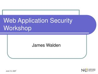 Web Application Security Workshop