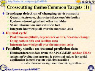 Trend/gap detection of changing environments Quantity/extremes, characteristics/cause/attribution