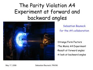 The Parity Violation A4 Experiment at forward and backward angles
