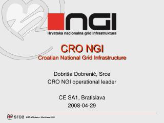 CRO NGI Croatian National Grid Infrastructure