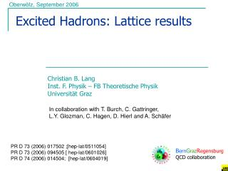 Excited Hadrons: Lattice results