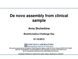 De novo assembly from clinical sample