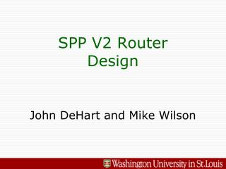 SPP V2 Router Design