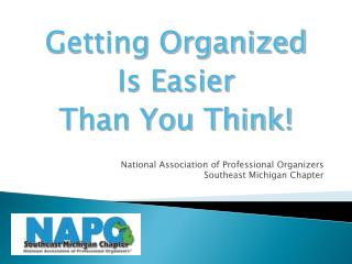 National Association of Professional Organizers Southeast Michigan Chapter