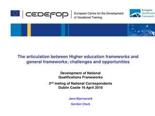 Development of National Qualifications Frameworks