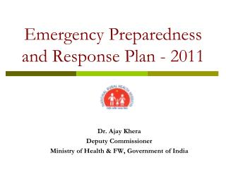 Emergency Preparedness and Response Plan - 2011