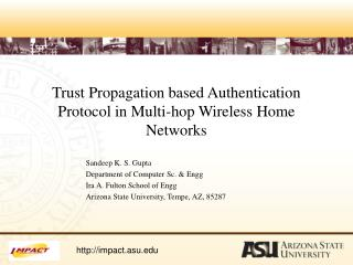 Trust Propagation based Authentication Protocol in Multi-hop Wireless Home Networks