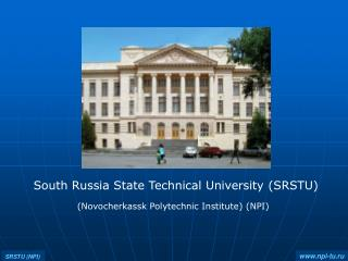 South Russia State Technical University (SRSTU)