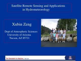 Satellite Remote Sensing and Applications               in Hydrometeorology