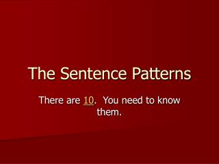 The Sentence Patterns