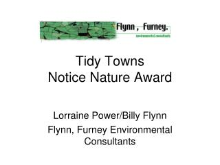 Tidy Towns Notice Nature Award