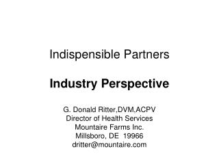 Indispensible Partners Industry Perspective