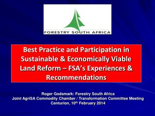 Roger Godsmark: Forestry South Africa