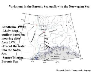 Variations in the Barents Sea outflow to the Norwegian Sea