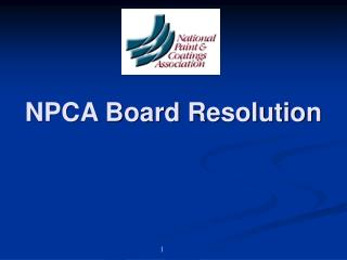 NPCA Board Resolution