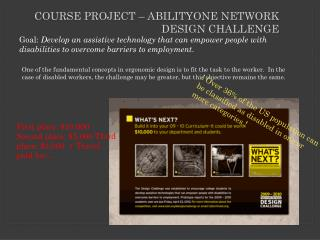 Course Project  – AbilityOne  Network Design Challenge