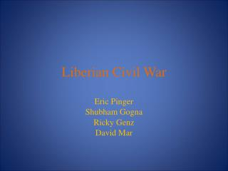 Liberian Civil War