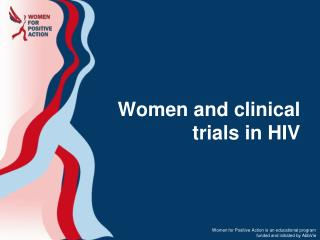 Women and clinical trials in HIV