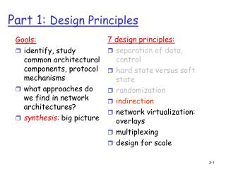 Part 1:  Design Principles