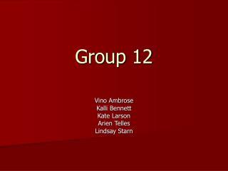 Group 12