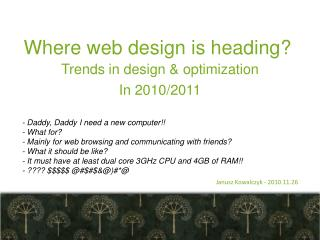 Where web design  is  heading ?