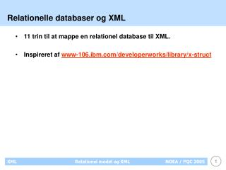 Relationelle databaser og XML