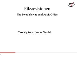Riksrevisionen The Swedish National Audit Office