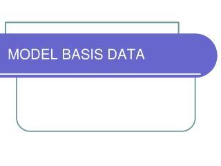 MODEL BASIS DATA