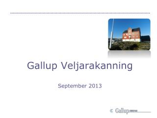 Gallup Veljarakanning September 2013