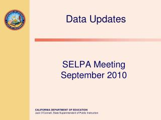 SELPA Meeting  September 2010