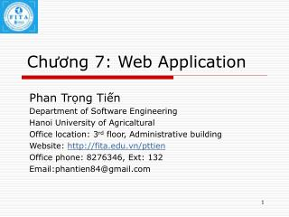 Chương 7: Web Application
