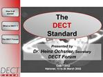 The DECT Standard