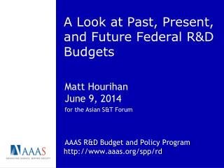 A Look at Past, Present, and Future Federal R&D Budgets