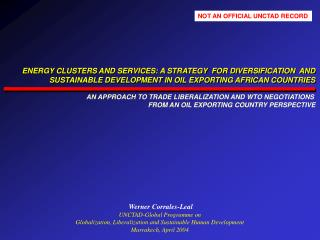 Werner Corrales-Leal UNCTAD-Global Programme on