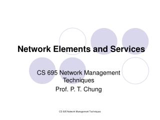 Network Elements and Services