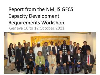 Report from the NMHS GFCS Capacity Development Requirements Workshop